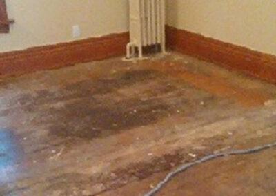 Before Wood Floor Refinishing in Buffalo NY