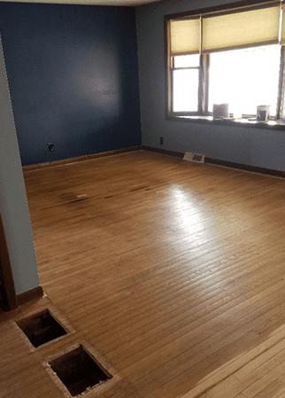 Before Wood Floor Refinishing and Sanding Floor it