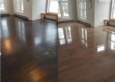 Living Room Floor Refinishing in Buffalo NY | Floor it Hardwood Floors