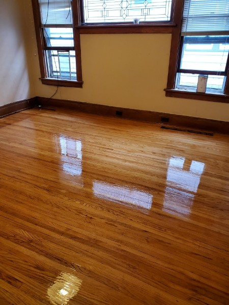 One Bedroom Wood Floor Restoration