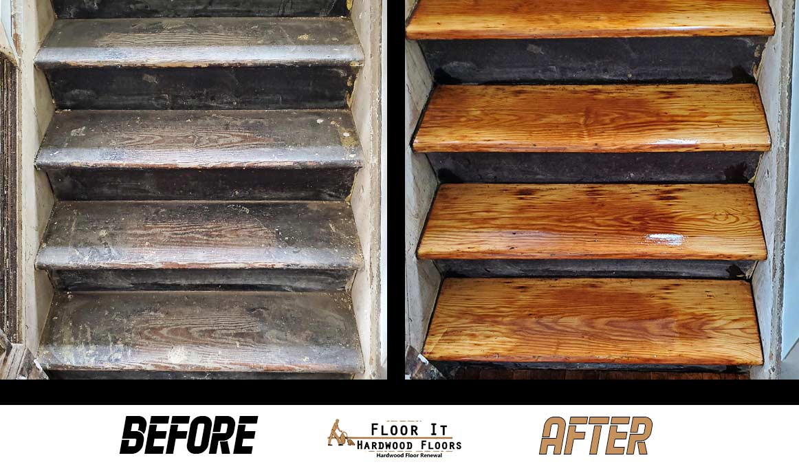 Before and After - Hardwood Floor Refinishing at Floor It Hardwood Floors